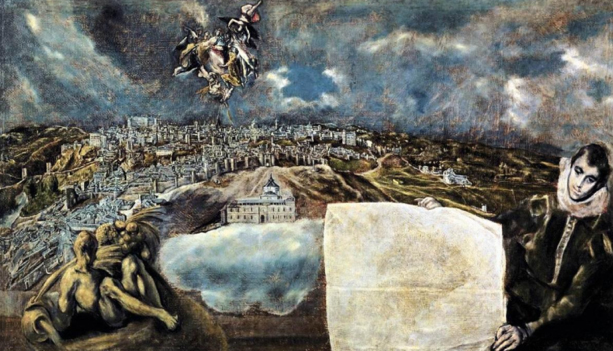 El greco. Painting. 1604